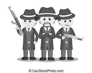 Mafia boss with his crews