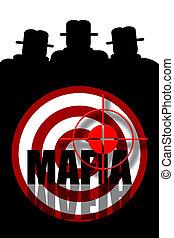 Mafia gangsters background