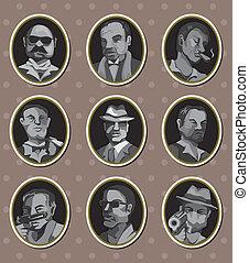 mafia, pegatinas