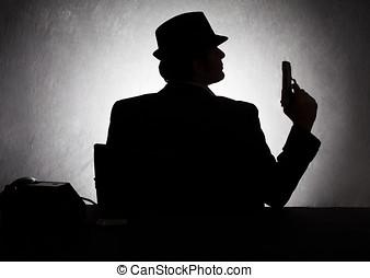 mafia silhoutte
