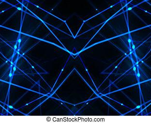magas tech, háttér, hálózat, futuristic
