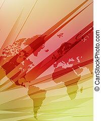 magas tech, térkép, közül, világ