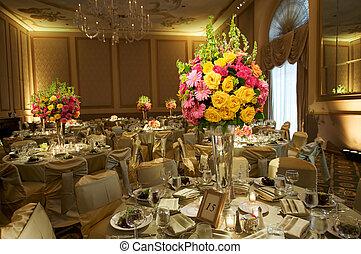 magas, vég, esküvő fogadás
