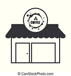 magasin, bâtiment, café, structure, marché