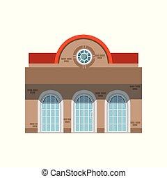 magasin, bâtiment, illustration, bâtiment, devant, fenêtre, vecteur, façade, public, magasin