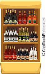 magasin, beverages., alcoolique