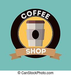 magasin, boisson café, conception