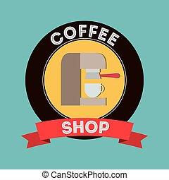 magasin, boisson café