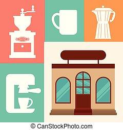 magasin, café, business, restaurant