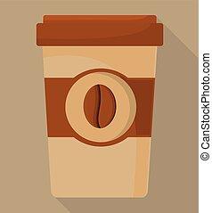 magasin, café, conception