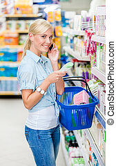 magasin, cellphone, esprit, produits de beauté, choisir, ...