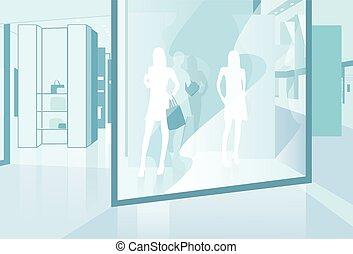 magasin, centre commercial, moderne, centre commercial, ...