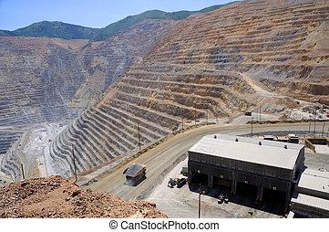 magasin, cuivre, exploitation minière, mine, équipement, ...