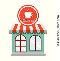 magasin, décoratif, café, restaurant