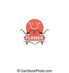 magasin, fleur, bannière