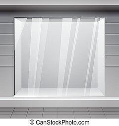 magasin, gagner, horizontal, extérieur, front.
