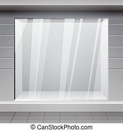 magasin, horizontal, extérieur, front., gagner