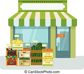 magasin, légumes, fruit