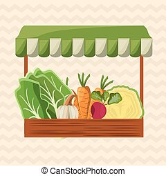 magasin, légumes, image, marché