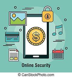 magasin ligne, conception, internet, protéger, sécurité