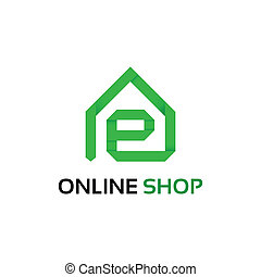 magasin, logo, ligne