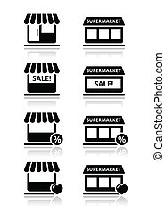 magasin, /, magasin, unique, supermarché
