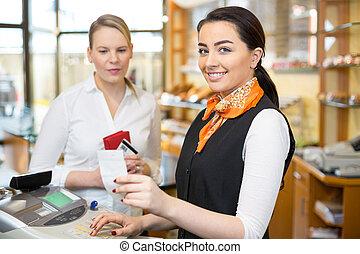 magasin, payant, registre, espèces, client