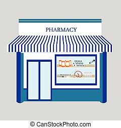 magasin, pharmacie, pharmacie