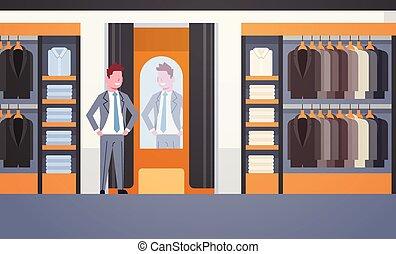 magasin, plat, mode, achats, vêtements affaires, essayer,...