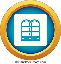 magasin, portes, bleu, isolé, vecteur, anti, vol, sécurité, capteur, icône