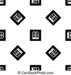 magasin, portes, modèle, seamless, anti, vol, noir, sécurité, capteur