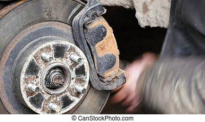 magasin, réparation, fonctionnement, freins, mécaniquede l'auto, voiture