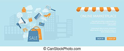 magasin, site web, magasin, conception