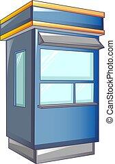 magasin, style, cabine, rue, icône, dessin animé