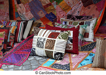 magasin, turquie, tapis, coussins, istanbul