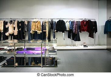 magasin, vêtements