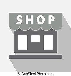magasin, vecteur, icône