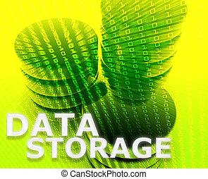 magasinering data, illustration