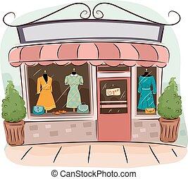 magasins, boutique, retro