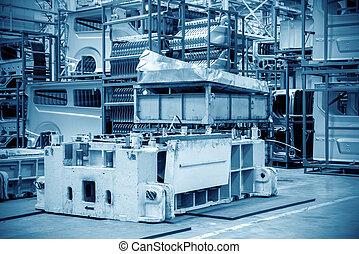 magazijn, automobiel fabriek