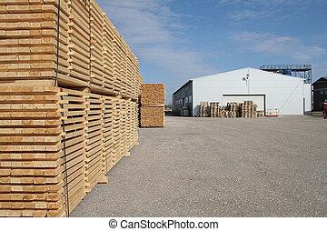 magazijn, timmerhout
