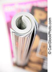 magazin, göndörített, tető kilátás