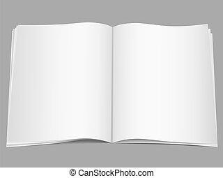 Blank open magazine, vector eps10 illustration