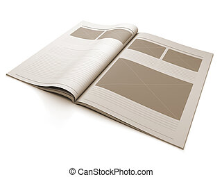Magazine blank page for design layout - A 3d illustration of...
