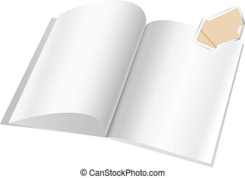 Magazine blank page