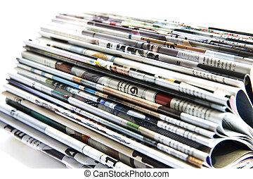 Magazine - Color magazine isolated on the white background