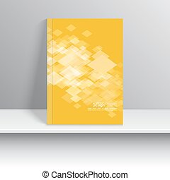 Magazine Cover. - Magazine Cover with square, rhombus . For...