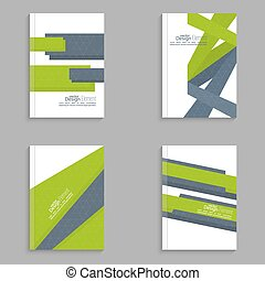 Magazine Cover vector - Set Magazine Cover with origami...