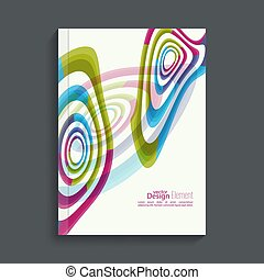 Magazine Cover with colored crystals - Magazine Cover with...