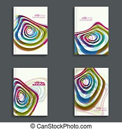 Magazine Cover with colored crystals - Set Magazine Cover...